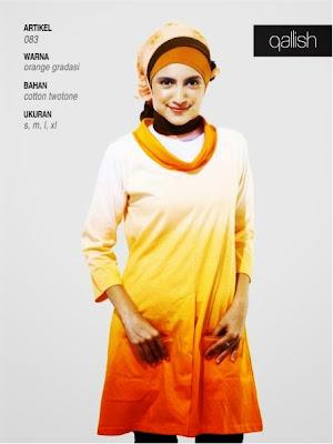 Katun twotone orange gradasi 083