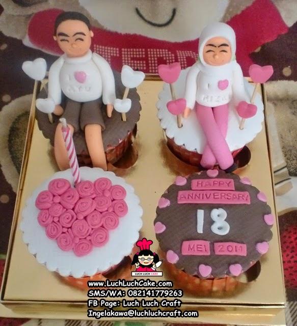 Cupcake Romantis Untuk Anniversary Daerah Surabaya - Sidoarjo