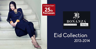 Bonanza Eid Collection 2013 By Maheen Karim and Sanam Chaudhri