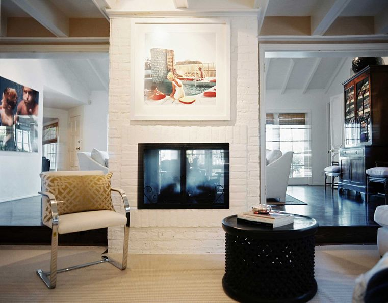Spicer bank by allison egan modern fireplaces for Double sided fireplace design