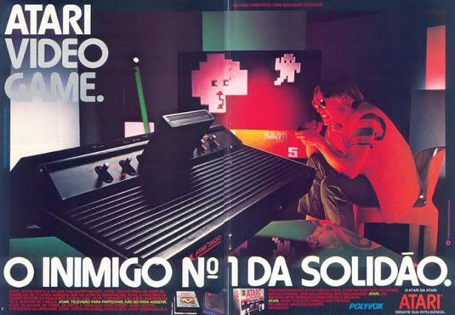 Coleção de propagandas do Atary (Polyvox) apresentadas em 1978. Uma nova de entretenimento chegava nos lares.