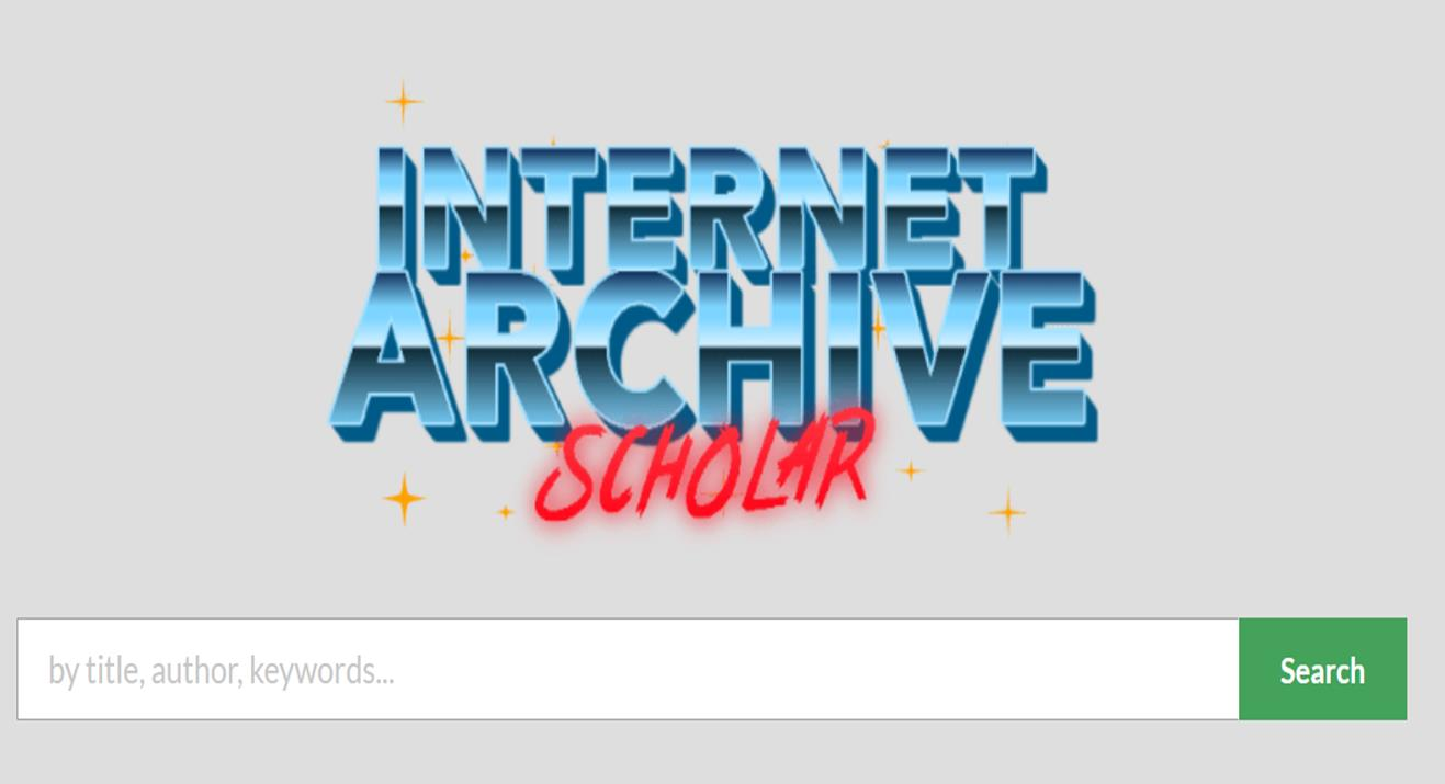 Internet Archives Scholar