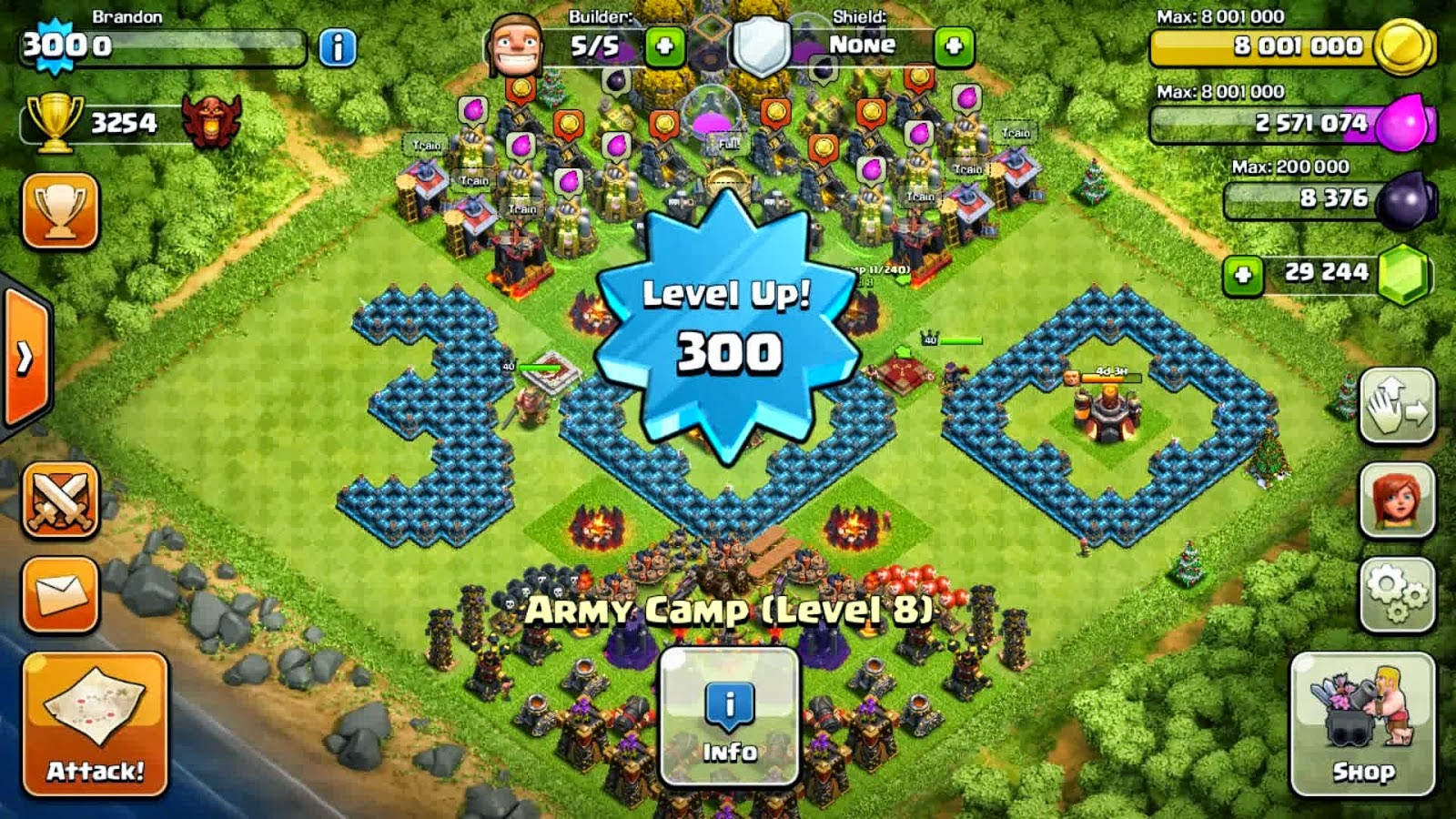 Cepat Naik Level di Clash Of Clans Sampai Town Hall