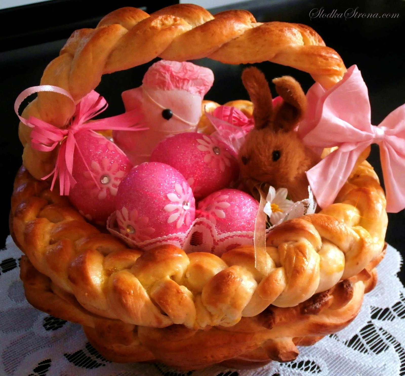 Drożdżowy Koszyczek Wielkanocny - Przepis - Słodka Strona