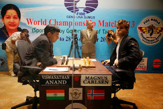 Echecs : Carlsen vs Anand pour la 5e partie - Photo © site officiel