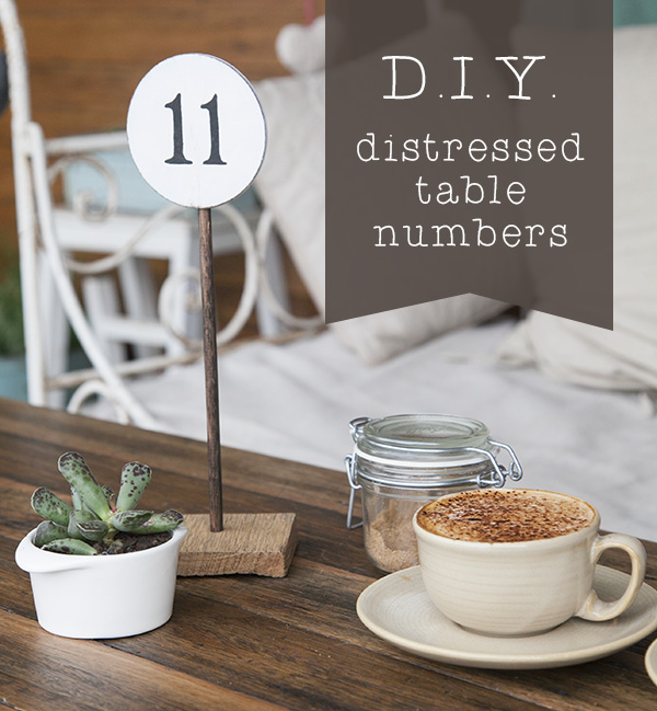 make table numbers 3