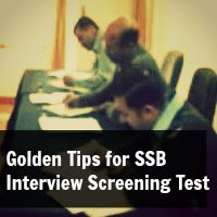 Golden Tips for SSB Interview Screening Test