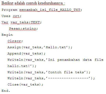 Makalah Dasar Pemrograman File Pada Pascal