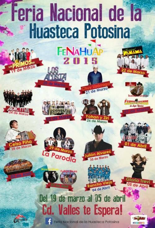 Feria huasteca potosina 2015 programa