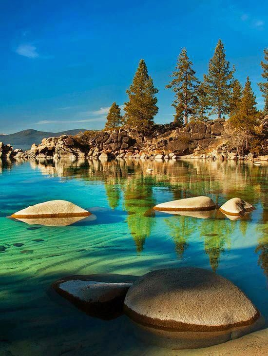 Sand Harbor at Lake Tahoe, USA
