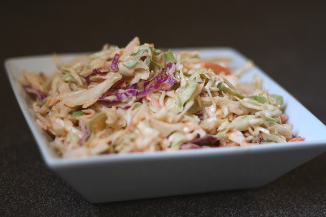 Sriracha Coleslaw recipe by Barefeet In The Kitchen