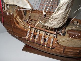 maqueta de artesania latina de la Santa María de Colón