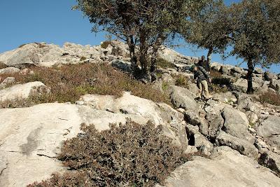 Descenso de la cumbre siguiendo la valla