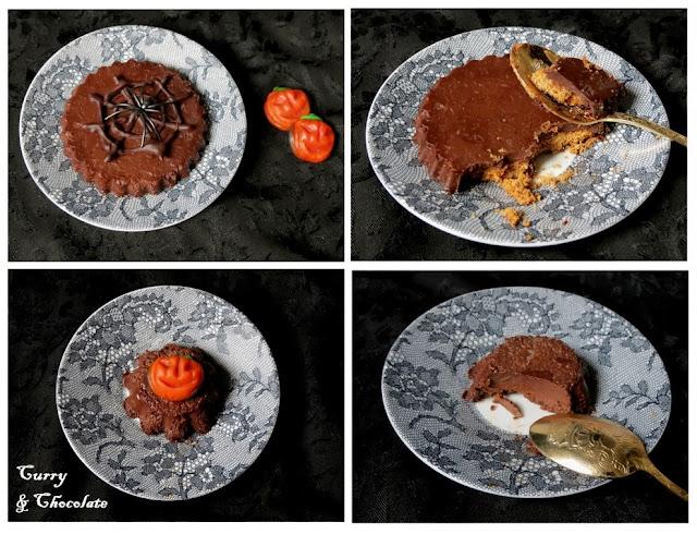 Tartaletas pequeñas de chocolate con galleta