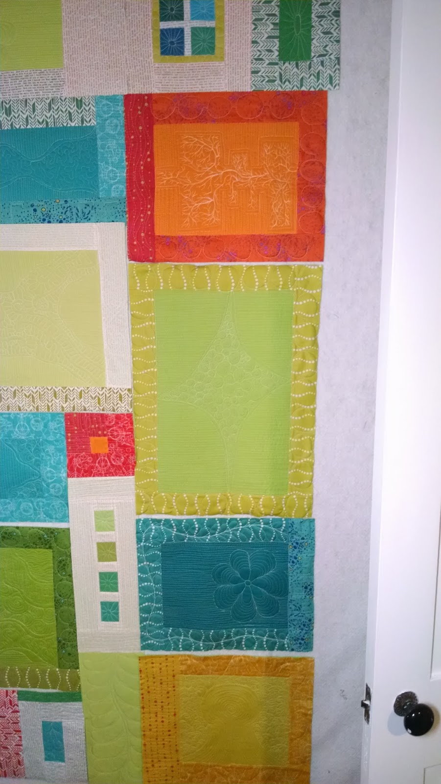 how to connect quilt as you go blocks