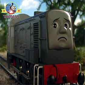 Thomas the train Dennis diesel excuses to escape from working hard on the Island of Sodor tracks