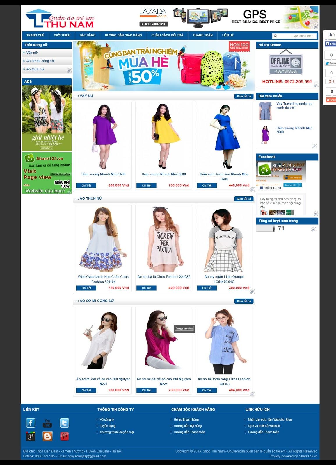 Mẫu blogger shop quần áo đẹp và chuyên  nghiệp
