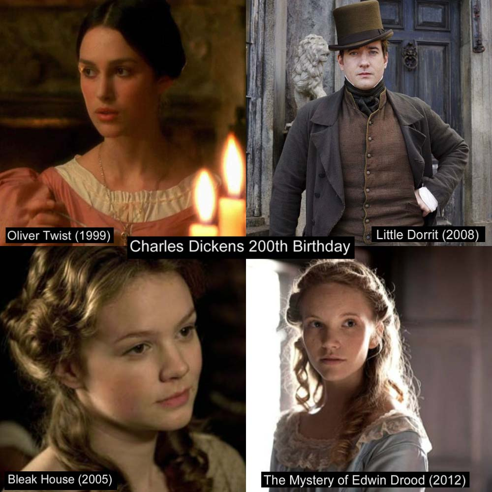 pride prejudice blog in celebration charles dickens well why ever not four of our favorite p p 2005 actors keira knightley oliver twist 1999 matthew macfadyen little dorrit 2008 carey mulligan