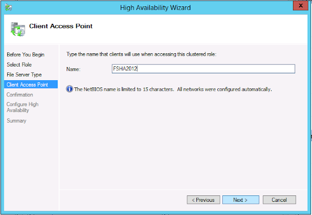 Scale out file server and configure the access point name
