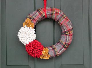 foxwithglasses.blogspot.com :: #wreath #cozymade www.cozymade.com