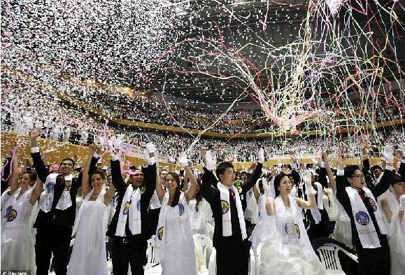 mass wedding south korea 3500 couples
