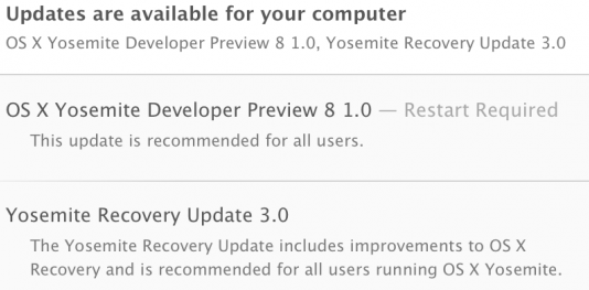 Mac OS X Yosemite 10.10 Developer Preview 8 (14A361c)