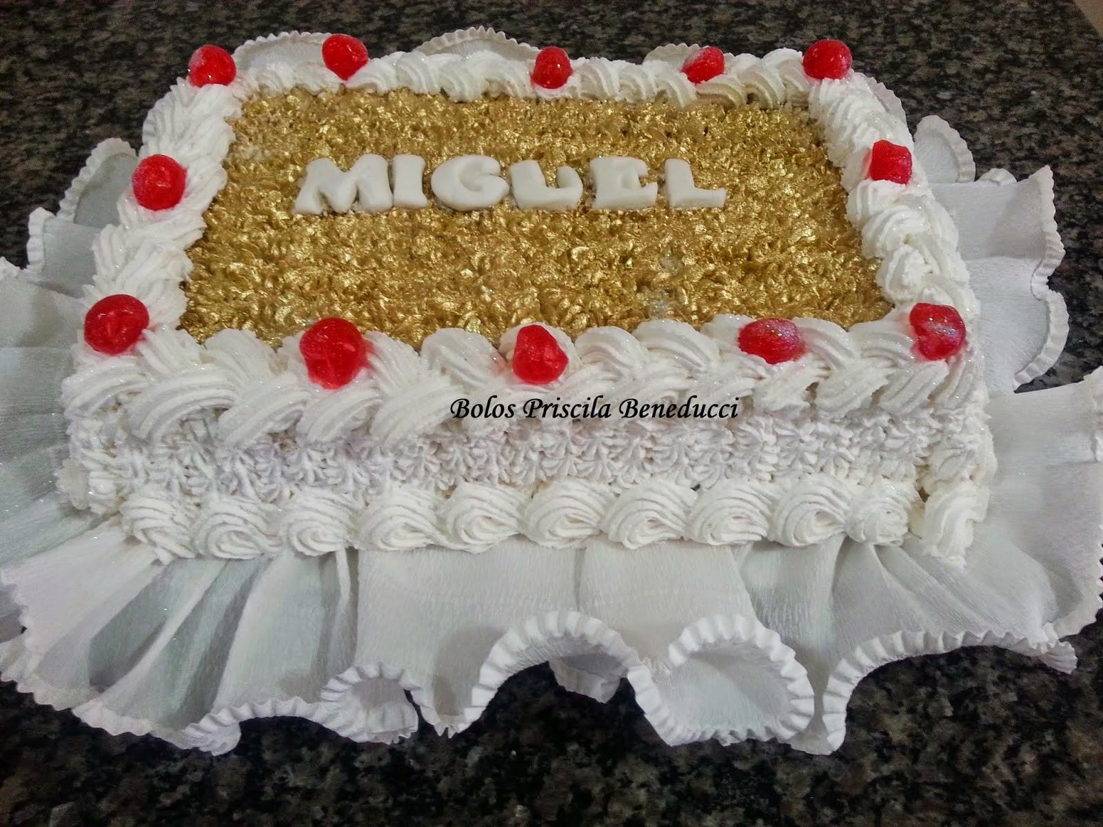 Bolo Dourado Miguel