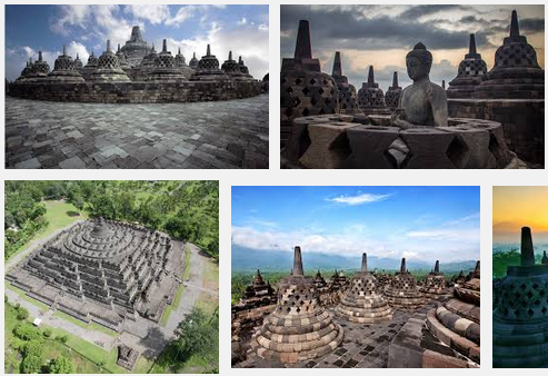 Ilustration Of Virtual Tour Of The Borobudur Temple