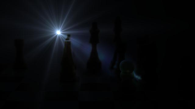 Partida de ajedrez en fotosmacro