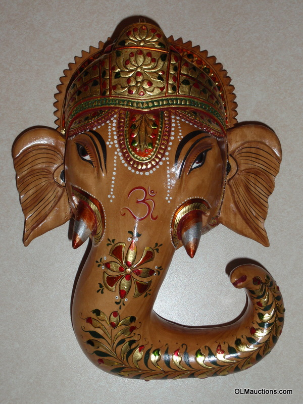 Internet superstores ganesha elephant carved wood hanging