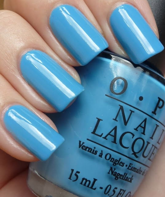 No Room for the Blues, OPI, swatch