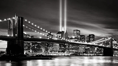 New york city at night black and white desktop wallpapers