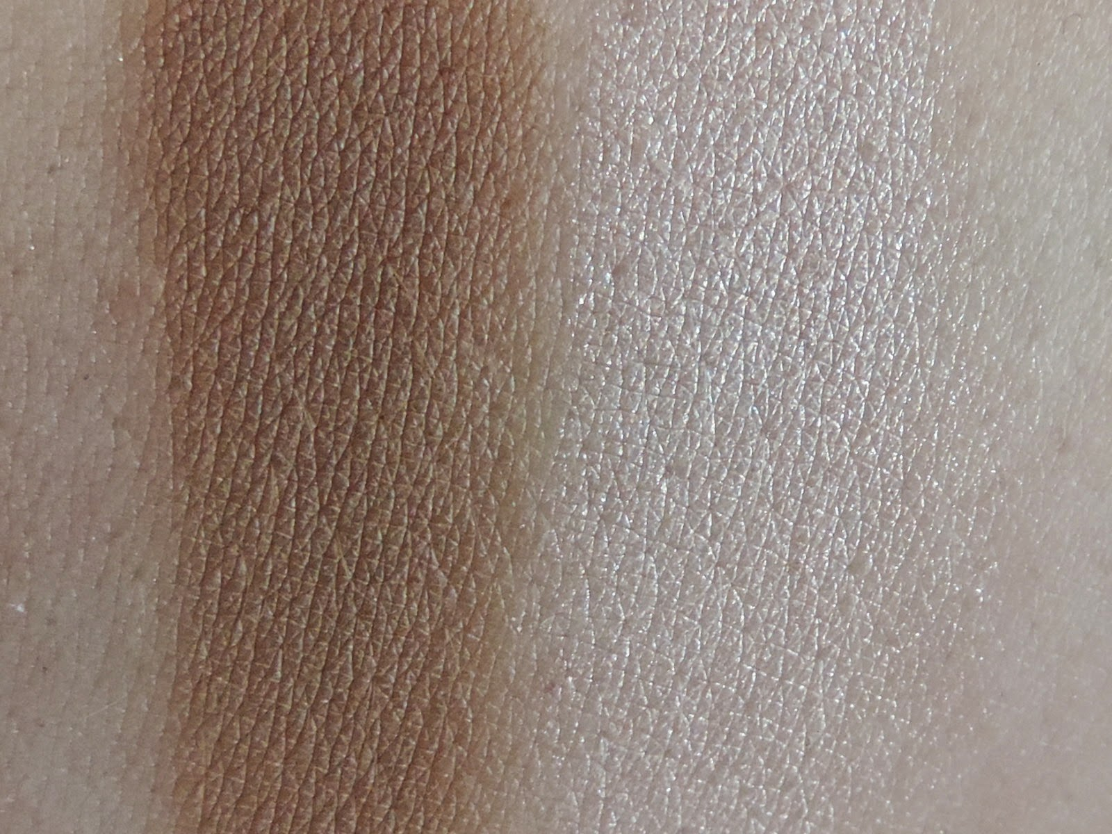 Swatches (from left) Milk Chocolate, Champagne Truffle