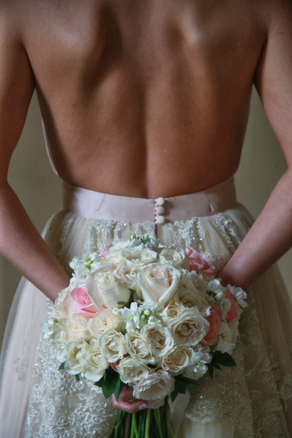 Rust Manor Bridal Portrait Back of Wedding Dress