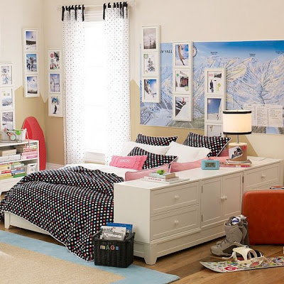 Clean Dorm Room Design Idea