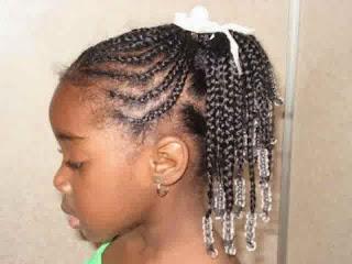 Model rambut keriting cantik untuk anak perempuan keren