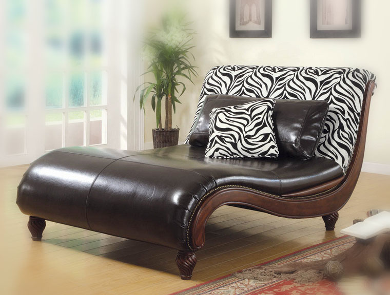 furniture gallery lounge chair with a zebra skin pattern. Black Bedroom Furniture Sets. Home Design Ideas
