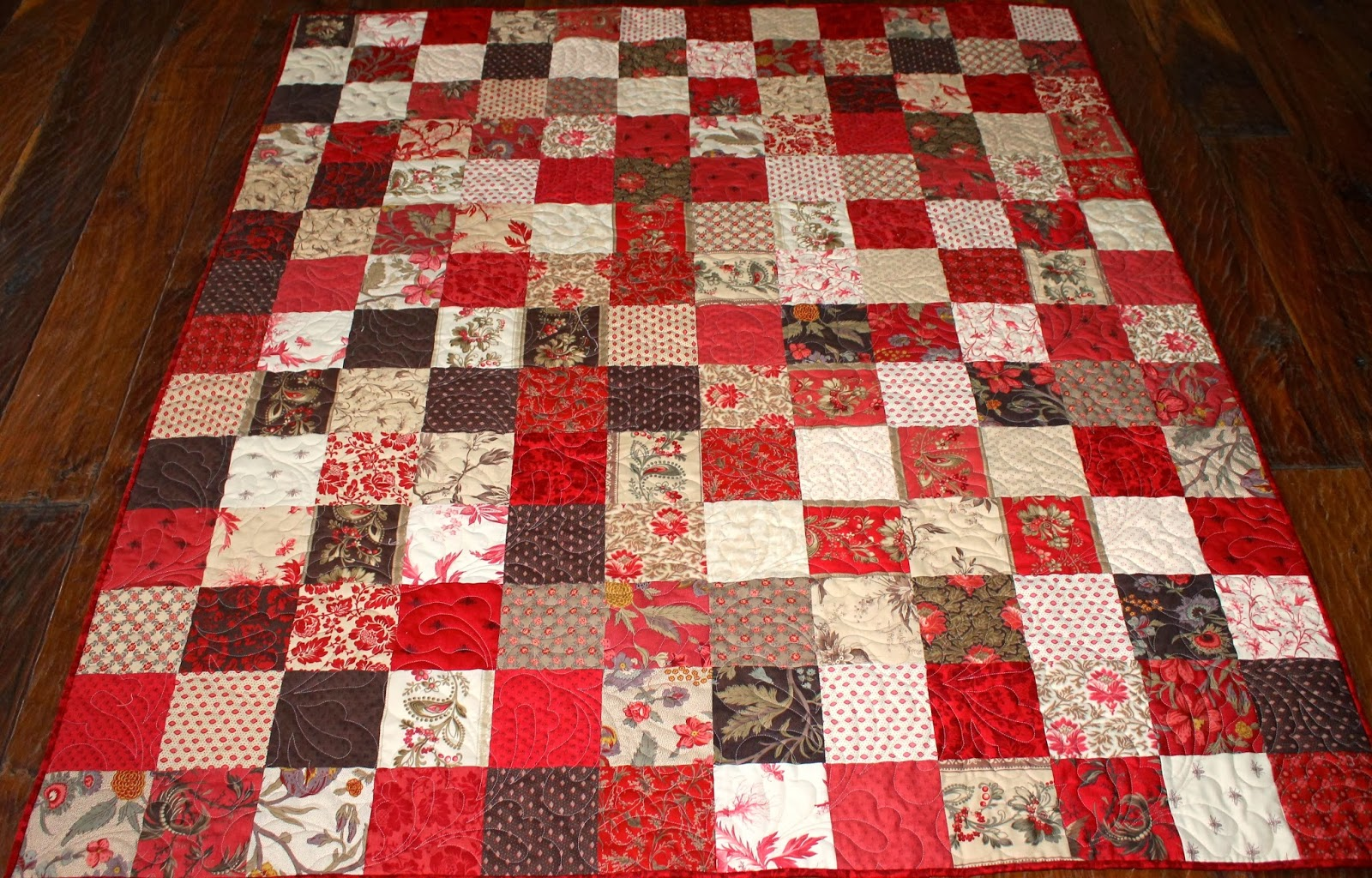 Layer Cake Quilt Material : Latimer Lane: Josephine Patchwork Quilt