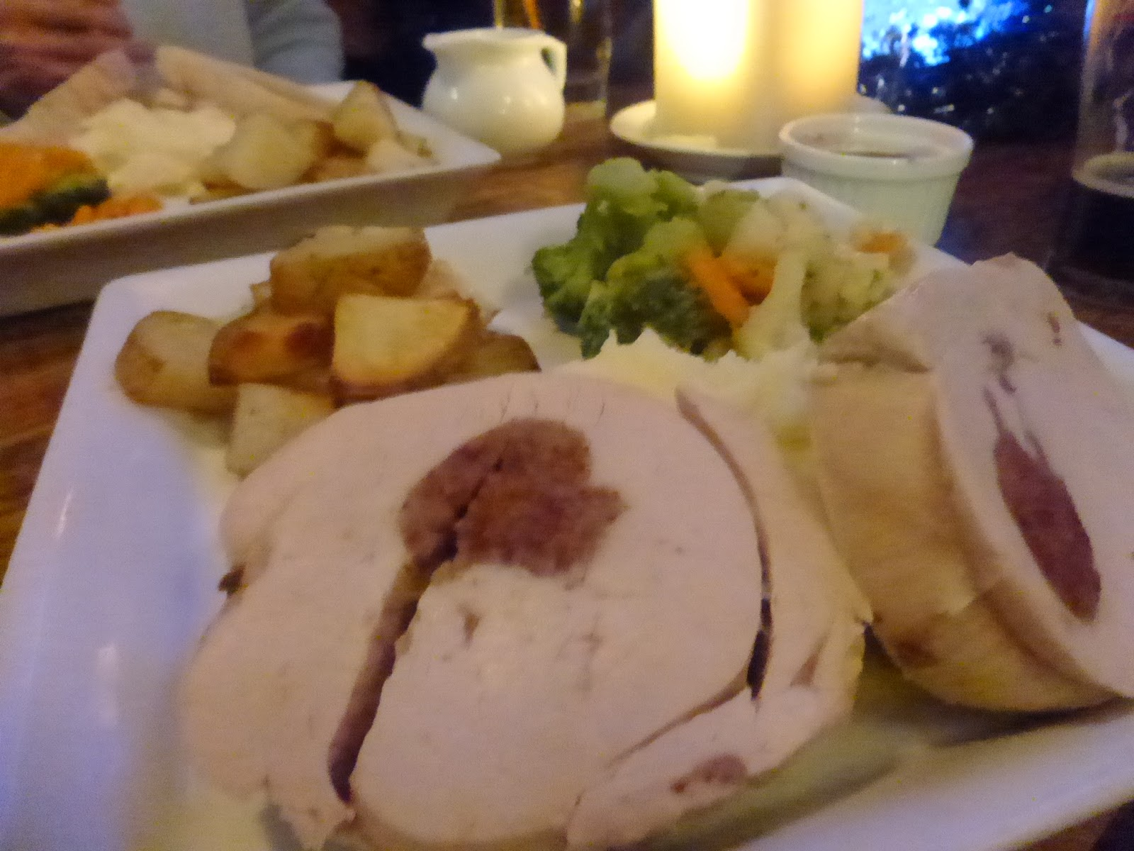 christmas dinner in a pub
