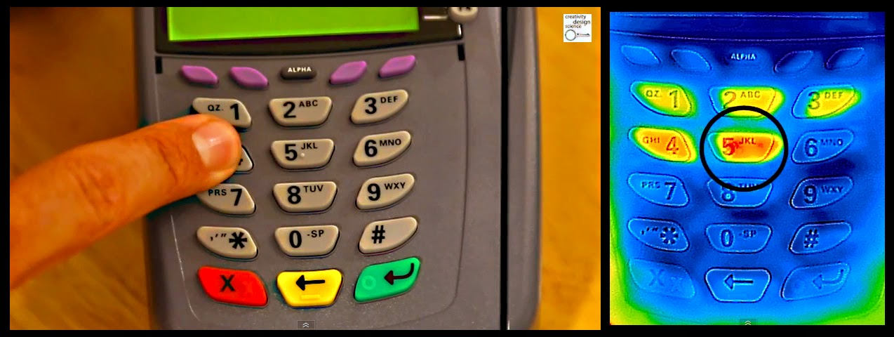 A Screen Capture From The Video:  A Debit Pad And Thermal Image
