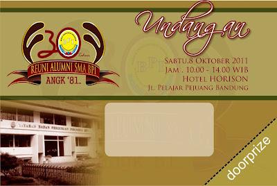 Desain Undangan Reuni Alumni SMA BPI Angk. 81