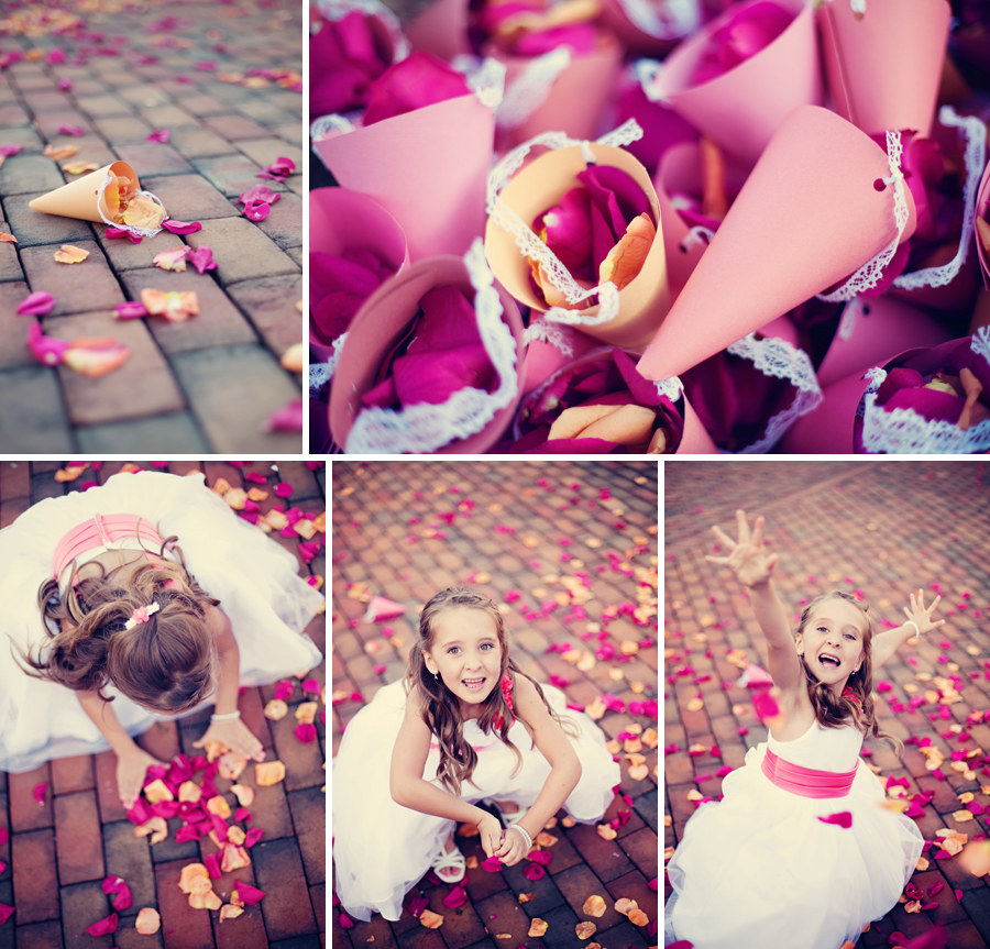 wedding rose petals