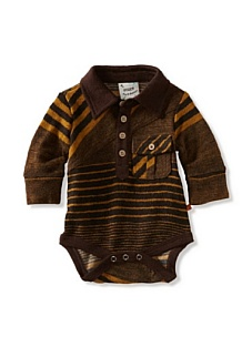 MyHabit: Save Up to 60% off Fore!! Axel + Hudson: Long Sleeve Golden Stripe Sweater Knit Polo Bodysuit - This bodysuit will give your little guy a retro look with golden stripes and a polo styling, snap closure
