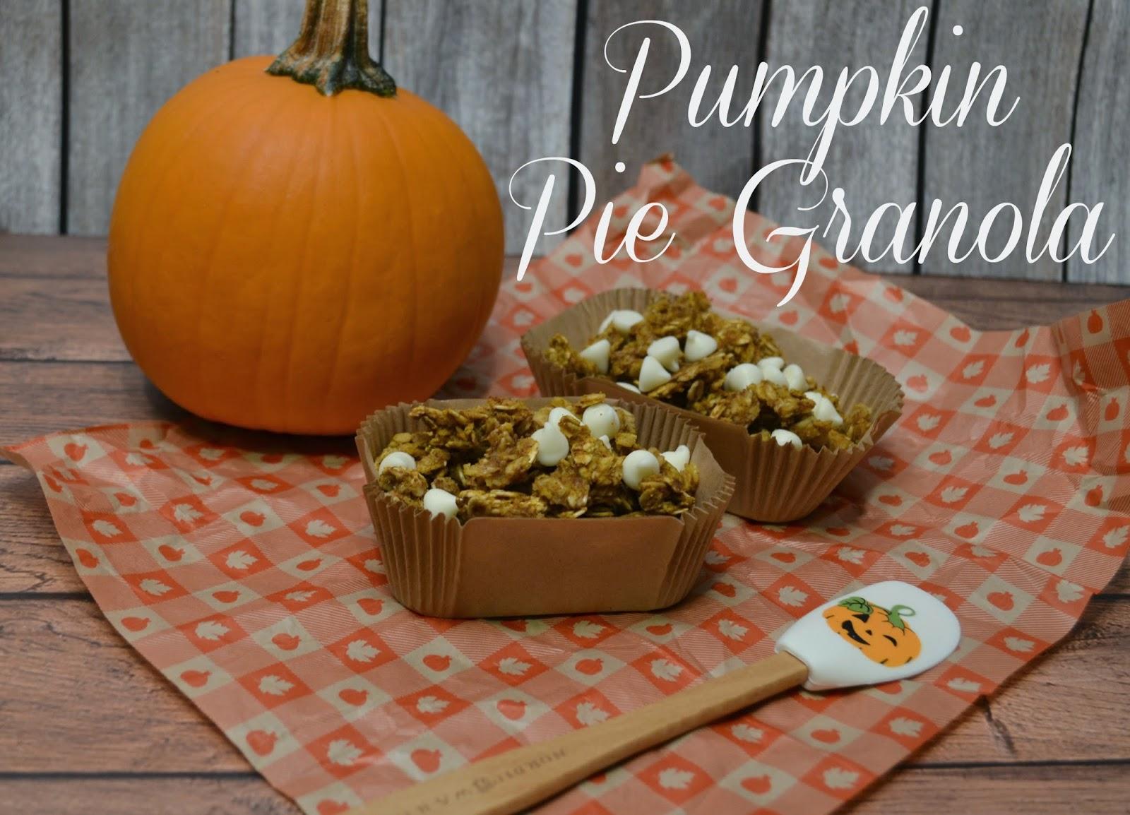 Pumpkin Pie Granola recipe.  Fall granola recipes.  Make your own granola.  Pumpkin Granola.  Granola recipe.  Nut free Granola recipe.
