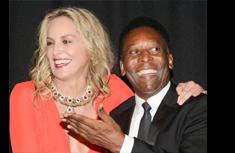 Pelé e Sharon Stone