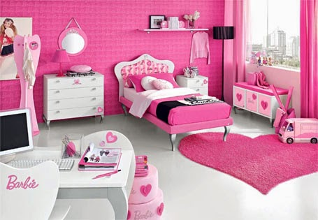romantic barbie teenage bedroom theme
