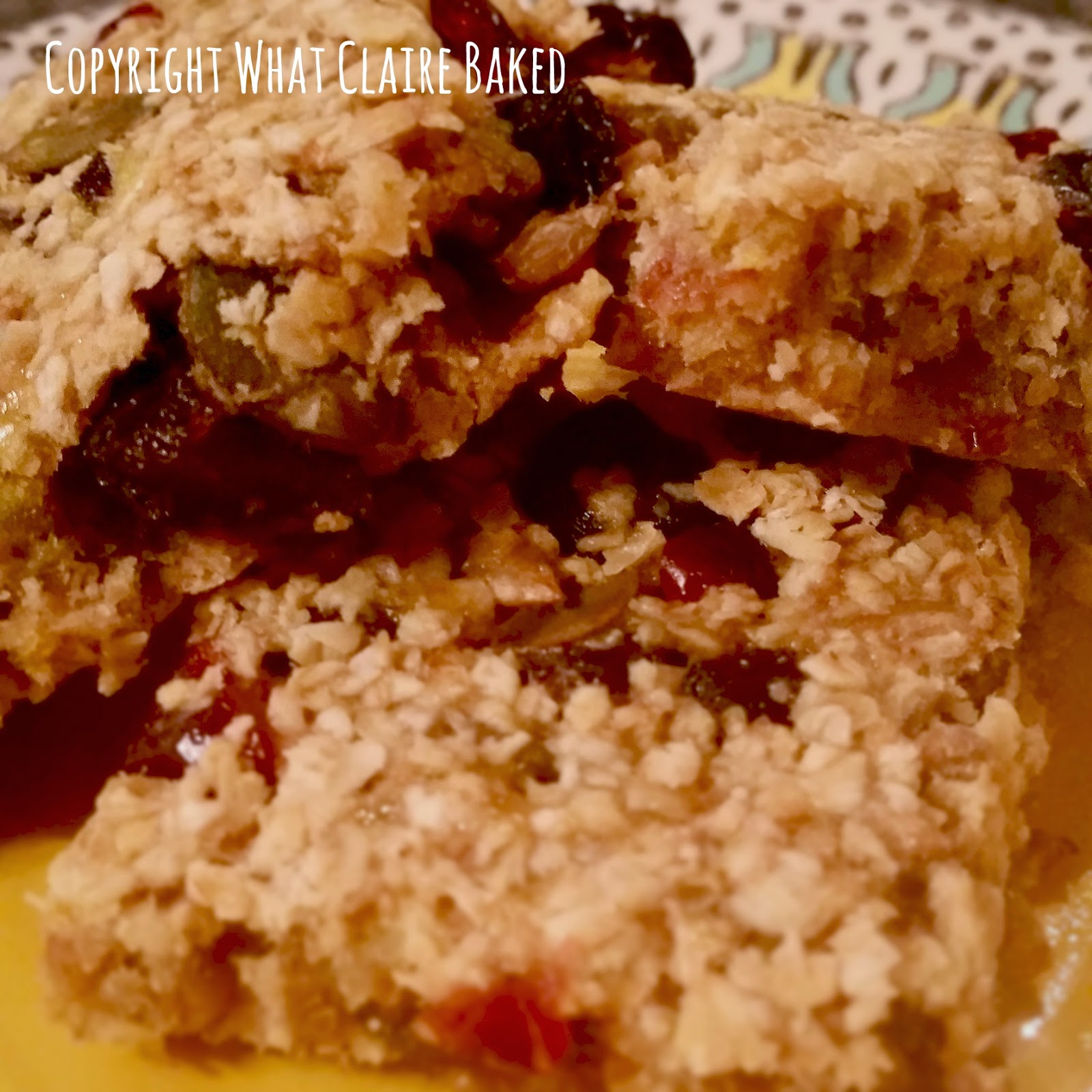 healthy flapjacks with fruit and nuts