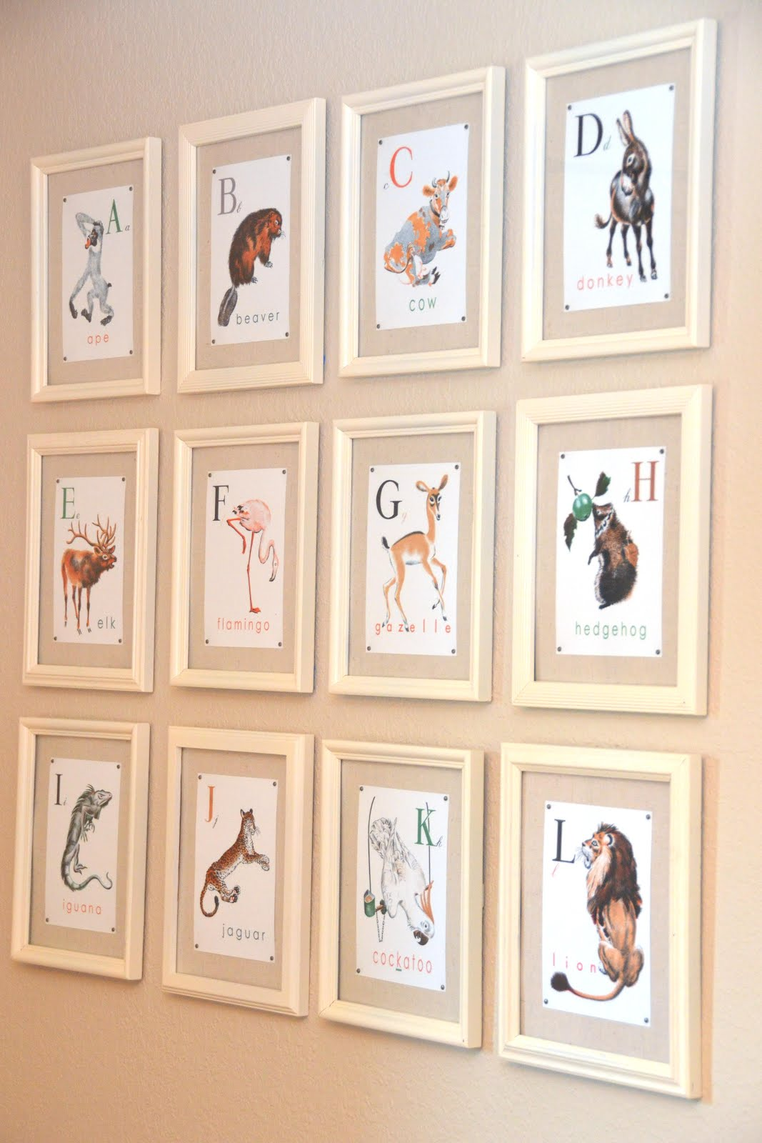 Inspired By Vintage Alphabet Flashcards We Purchased Abc Du Pere Castor A 1930 S French Children Book Converted It To English And Then Framed The