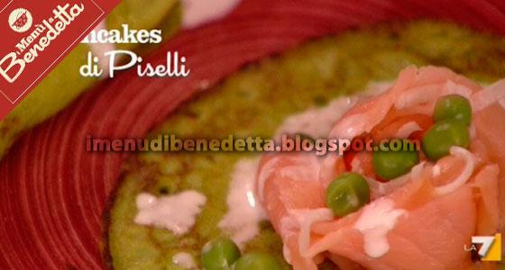 Pancakes ai Piselli con Salmone di Benedetta Parodi