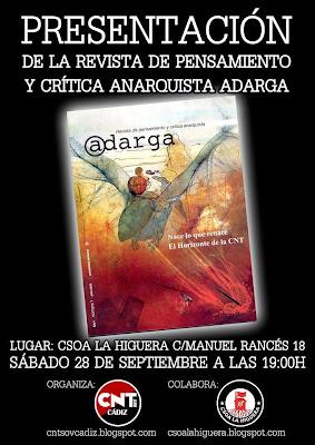 Anarquistas,CNT AIT ,CNT FAI ,uventudes libertarias ,Juventudes Anarquistas,Anarquía,Anarquista,Anarquismo,ALCALA DE LOS GAZULES ALCALA DEL VALLE ALCORNOCALEJO ALGAR ALGECIRAS ALGODONALES ALMORAIMA ARCOS DE LA FRONTERA ARENAS CARDENAS BARBATE BENALUP BENAMAHOMA BENAOCAZ BOLONIA BONANZA BORNOS CADIZ CAMPAMENTO CANTARRANAS CAÑADA ANCHA CARTEYA-GUADARRANQUE CASTELLAR DE LA FRONTERA CASTILLO DE CASTELLAR CHICLANA DE LA FRONTERA CHIPIONA CONIL DE LA FRONTERA CORTIJILLOS COSTA BALLENA COTO DE BORNOS CUARTILLOS DOÑA BLANCA EL ALMARCHAL EL BOSQUE EL CUARTON  EL GASTOR EL LENTISCAL EL PALMAR EL PARRALEJO EL PELAYO EL PORTAL EL PUERTO DE SANTA MARIA EL SANTISCAL EL TORNO ESPERA ESTELLA DEL MARQUES FACINAS FUENTE DEL GALLO GIBALBIN GIGONZA GRAZALEMA GUADACORTE GUADALCACIN GUADIARO JARANA JEDULA JEREZ DE LA FRONTERA JIMENA DE LA FRONTERA JOSE ANTONIO JUNTA DE LOS RIOS LA ALGAIDA LA ANDREITA LA BARCA LA BARCA DE LA FLORIDA LA BARROSA LA CARIDAD   LA INA LA JARDA LA LINEA DE LA CONCEPCION  LA MATA LA MUELA (Algodonales) LA MUELA (Vejer de la Frontera) LA OLIVA LA PERDIZ LA ZARZUELA LAS ABIERTAS LAS LOMAS LAS TABLAS LIBREROS LOMOPARDO LOS ANGELES LOS BARRIOS LOS CAÑOS DE MECA LOS HURONES LOS JUNCALES LOS NAVEROS MANZANETE MARCHENILLA MEDINA-SIDONIA MESAS DE ASTA MIRAFLORES MONTENEGRAL NAJARA NUEVA JARILLA OLVERA PALMONES PATERNA DE RIVERA POZO AMARGO PRADO DEL REY PUENTE MAYORGA PUENTE ROMANO PUERTO REAL PUERTO SERRANO  ROCHE ROTA SAN AMBROSIO SAN ENRIQUE SAN FERNANDO SAN ISIDRO DEL GUADALETE SAN JOSE DEL PEDROSO SAN JOSE DEL VALLE SAN MARTIN DEL TESORILLO SAN PABLO DE BUCEITE SAN ROQUE   SANLUCAR DE BARRAMEDA SANTA LUCIA SETENIL DE LAS BODEGAS SOTOGRANDE TAHIVILLA TARAGUILLA TARIFA TAVIZNA TEMPUL TORRE ALHAQUIME TORRE MELGAREJO TORRECERA TORREGUADIARO TREBUJENA UBRIQUE VALDELAGRANA VEJER DE LA FRONTERA VILLALUENGA DEL ROSARIO VILLAMARTIN ZAHARA ZAHARA DE LOS ATUNES ZAHORA,